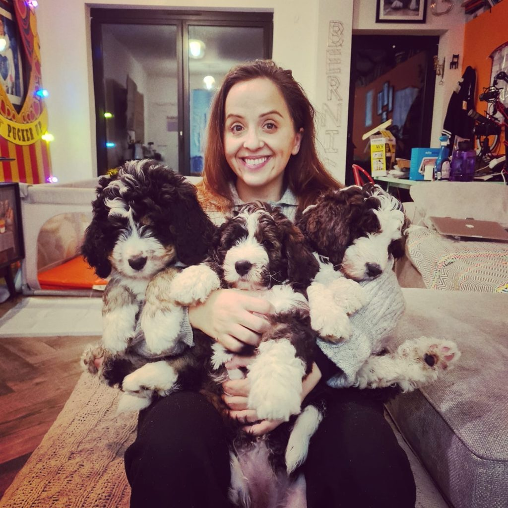 Luisa and puppies